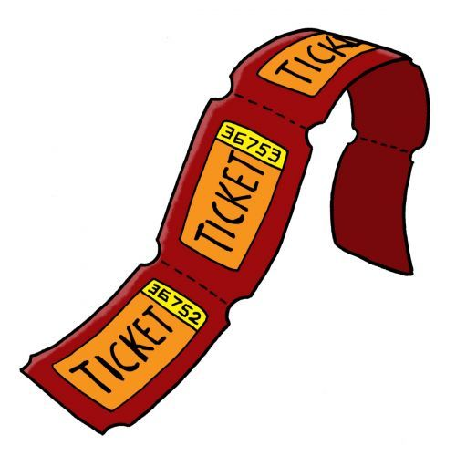 Raffle clipart ticket out the door. Carnival tickets image from