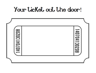 Raffle clipart ticket out the door. Exit template free physic