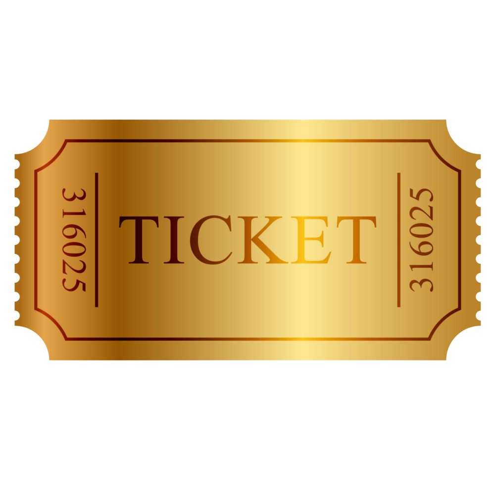 Raffle ticket images png. Great songs workshop show