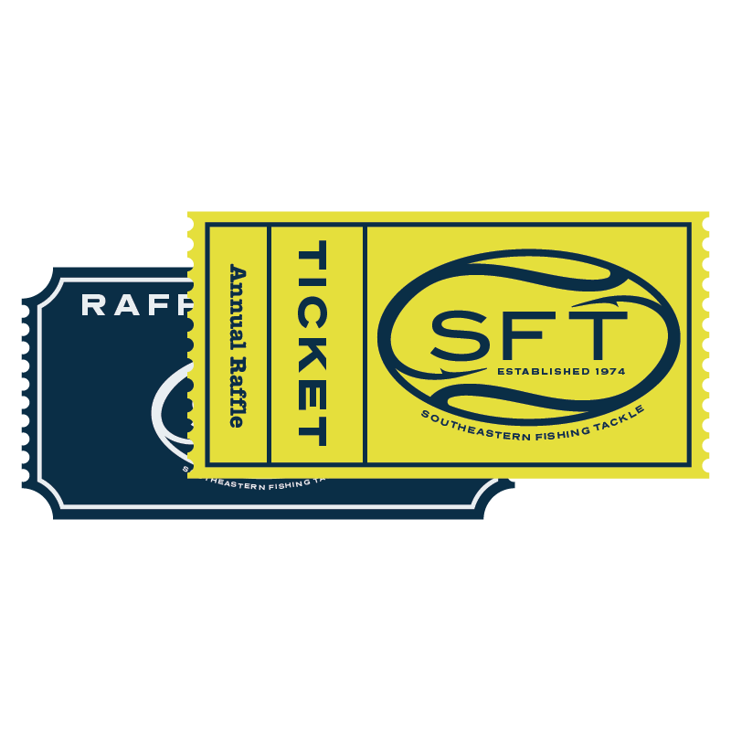 Raffle ticket png. Annual southeastern fishing tackle