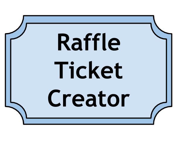 Drawing raffle lucky. Microsoft publisher ticket template