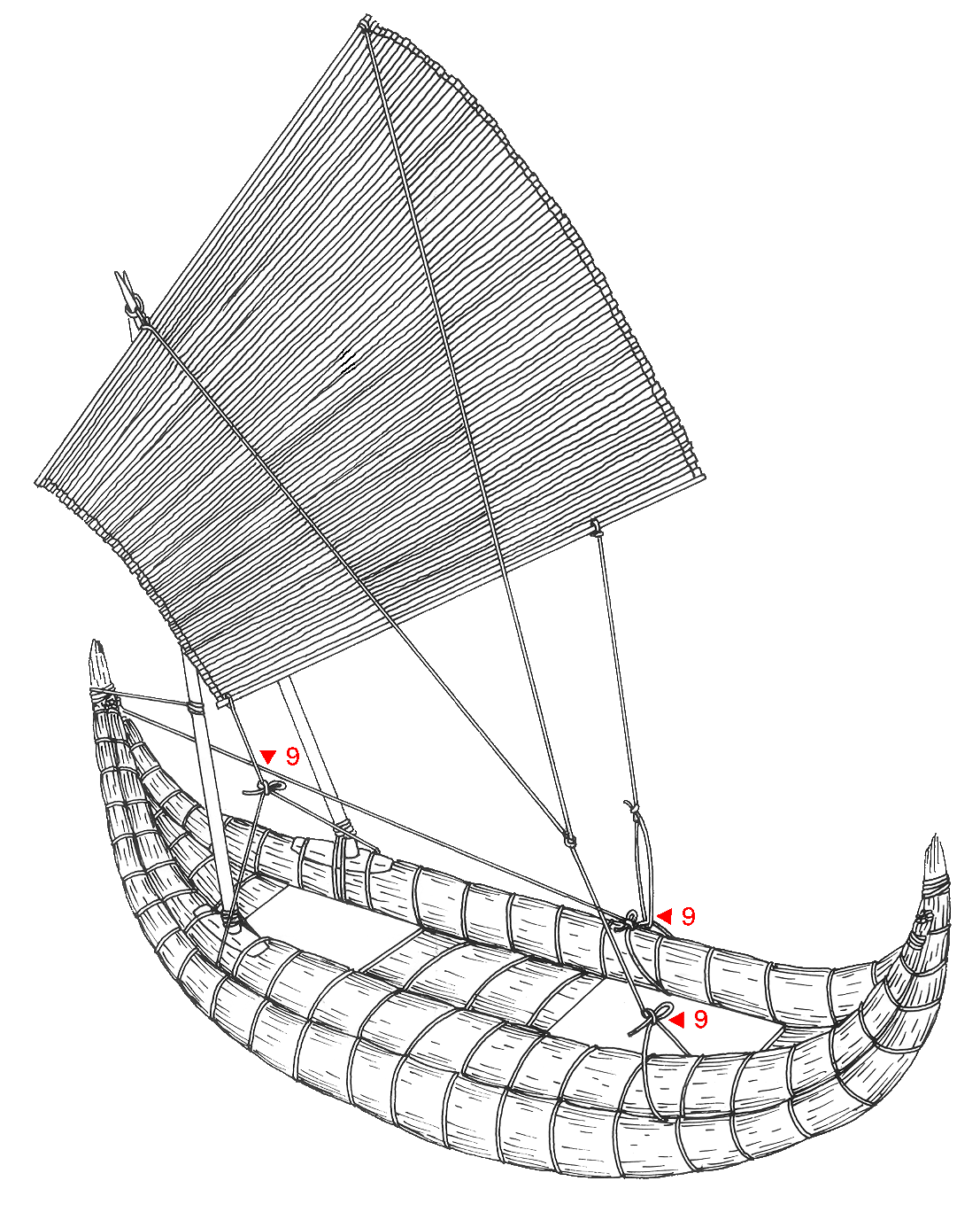 Raft drawing boat. Missing inca knowledge an