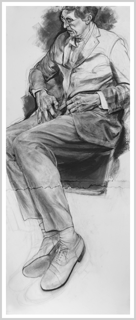 Rage drawing charcoal. Nice shoes by artist