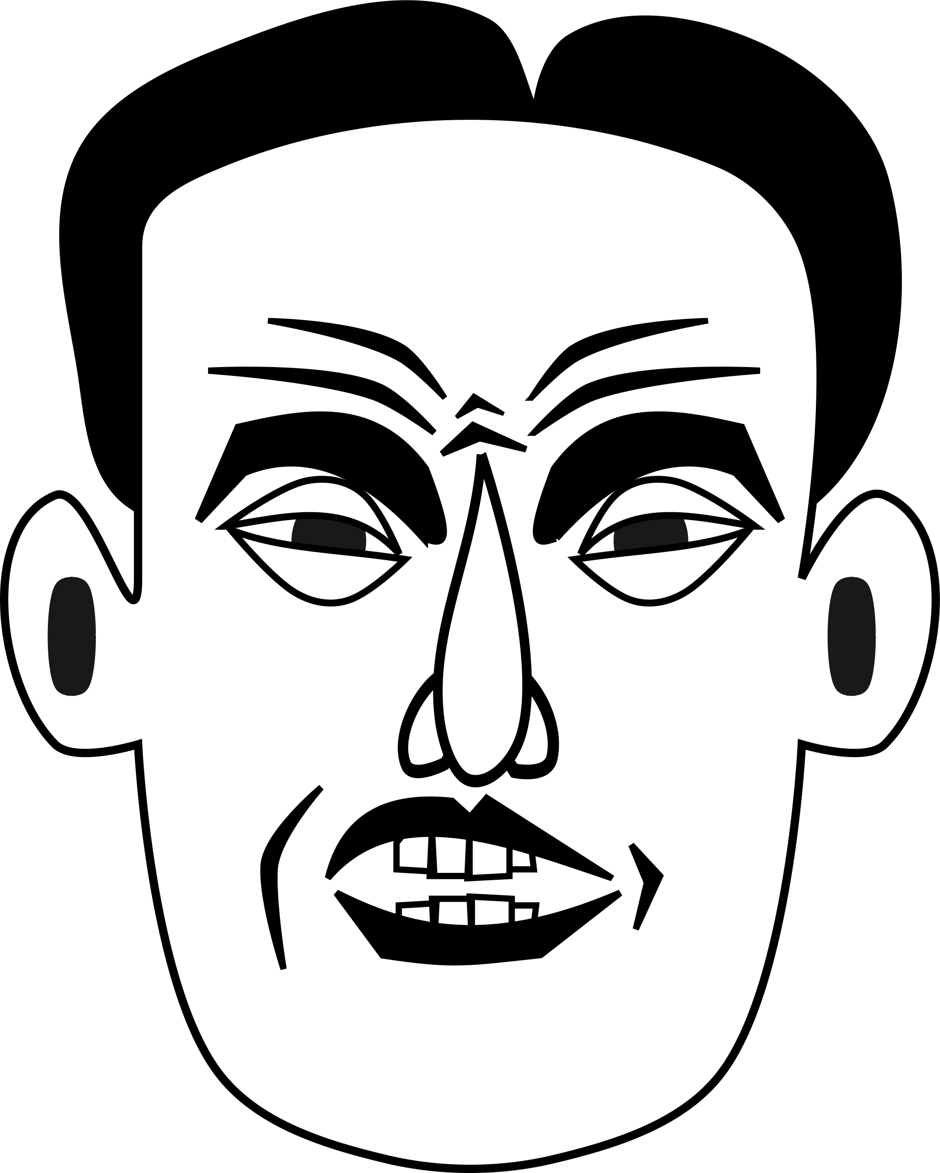 Rage drawing emotional. Anger clipart black