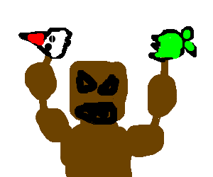Rage drawing fictional. Bear rips a green