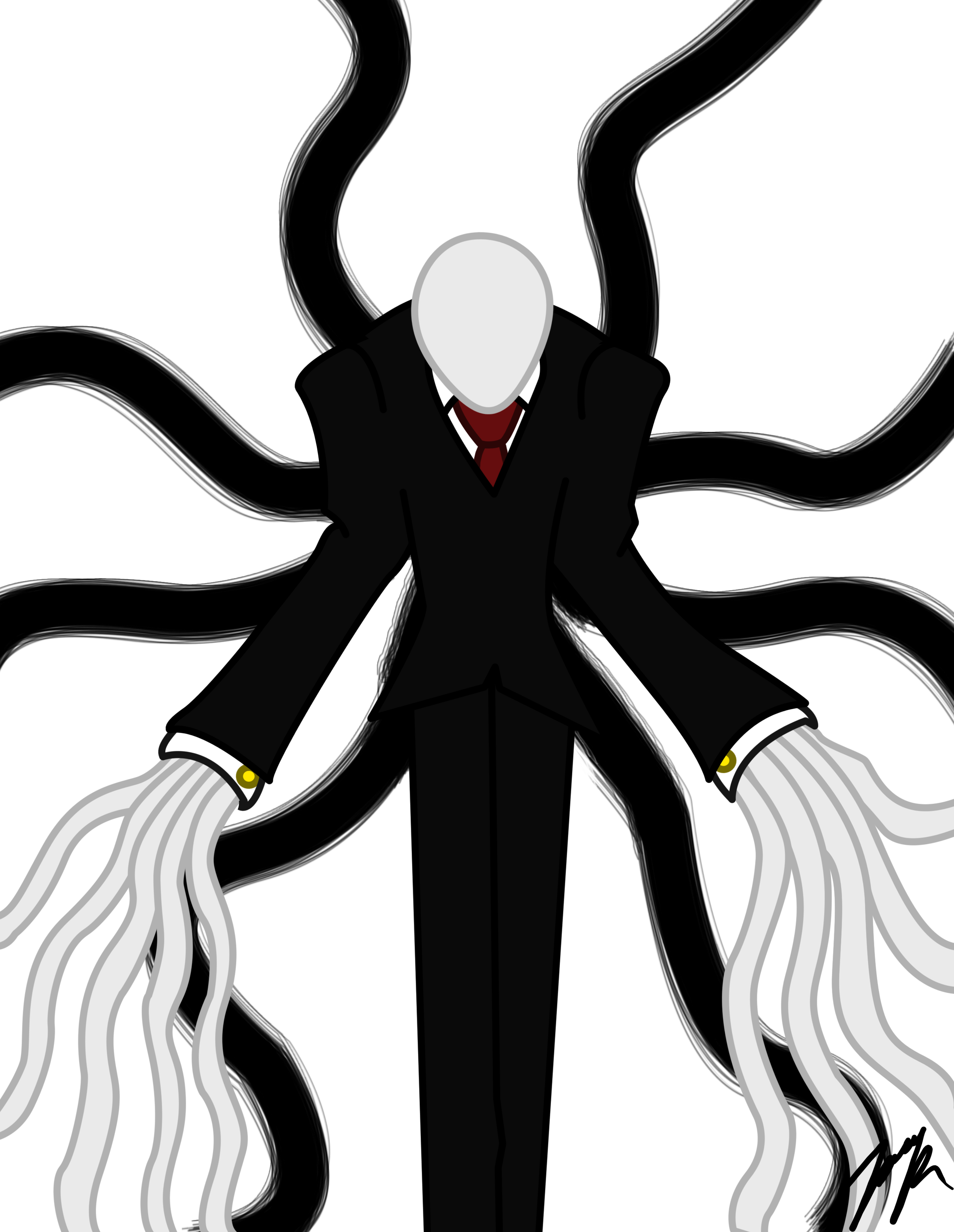 Rage drawing slender man. The eight pages minecraft