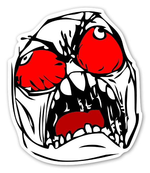 Rage face meme png. Stickerapp memes colorful sticker