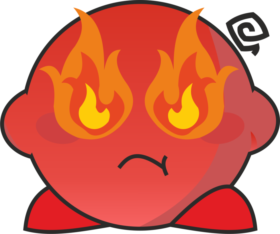 Rage png. Kirby by lisuplaygames on
