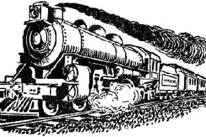 Railroad clipart steam engine. Free clip art old