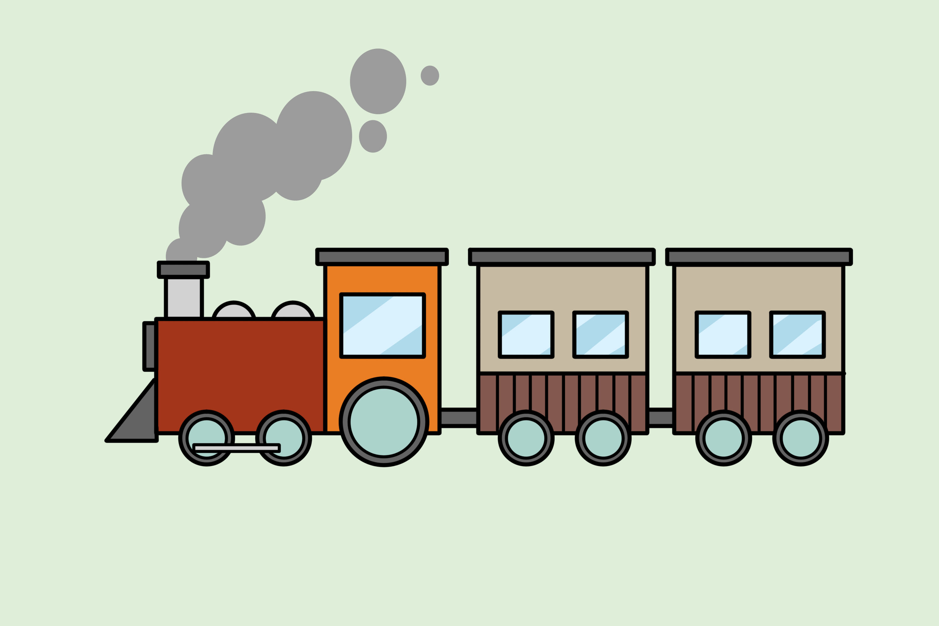 Subway clipart simple train. Ways to draw