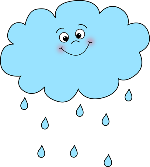 raindrops clipart smiley