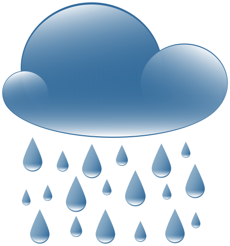 Rain clipart. Cloud weather icon png