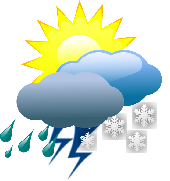 Weather clipart different weather. Sunset rain cloud satellite