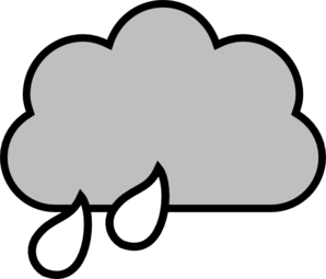 Rain clipart cloudy with. Cloud free