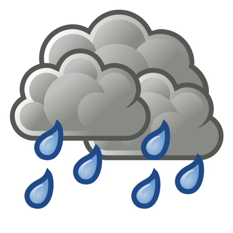 Raining clipart weather icon. Shower cloud rain scattering
