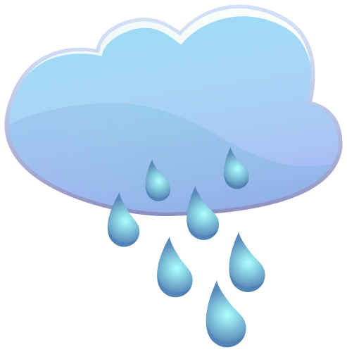 Raining clipart weather icon. Cloud and rain drops
