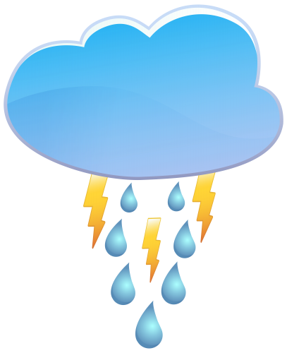 Rain clipart icon. Cloud and thunder weather