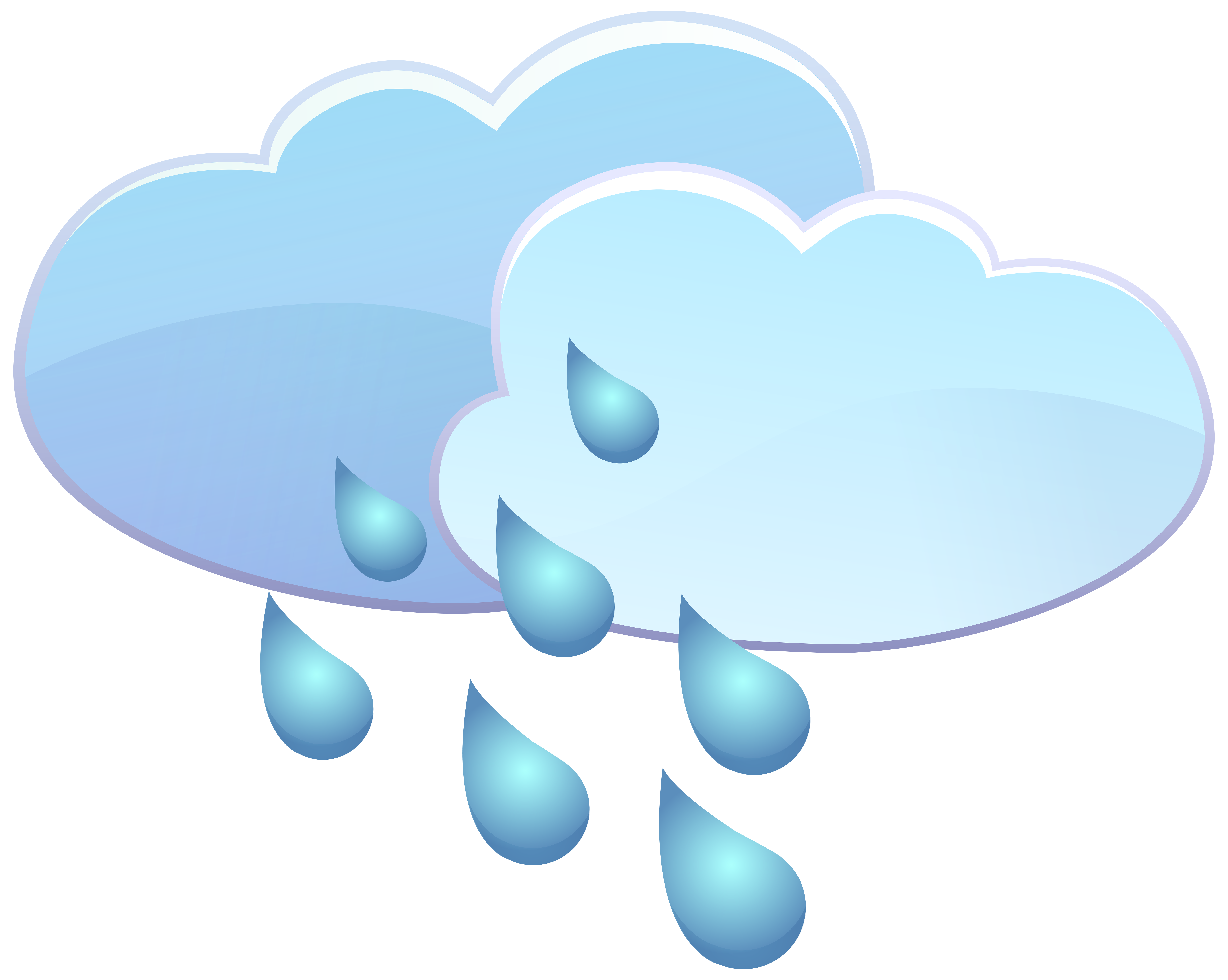 Rain clipart icon. Clouds and drops weather