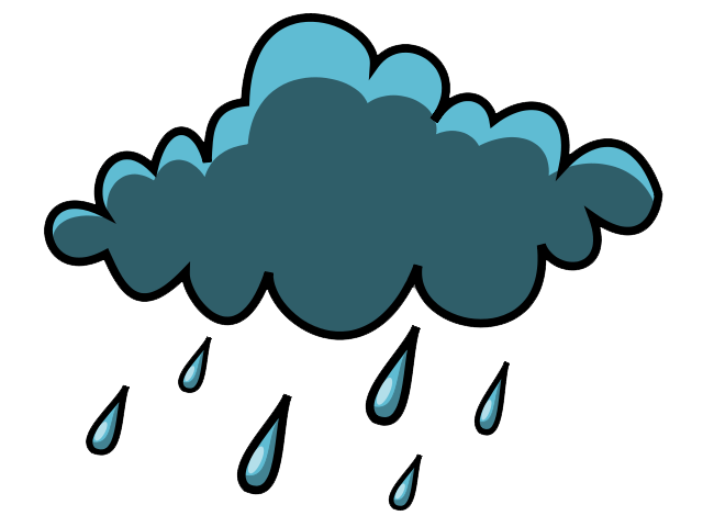 Animated rain . Thunderstorm clipart png black and white library