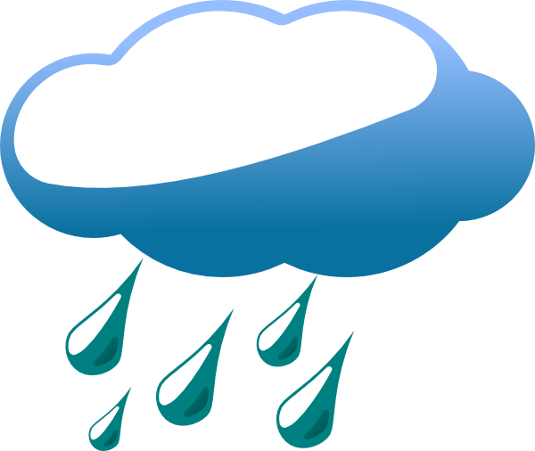 raining clipart rain cloud