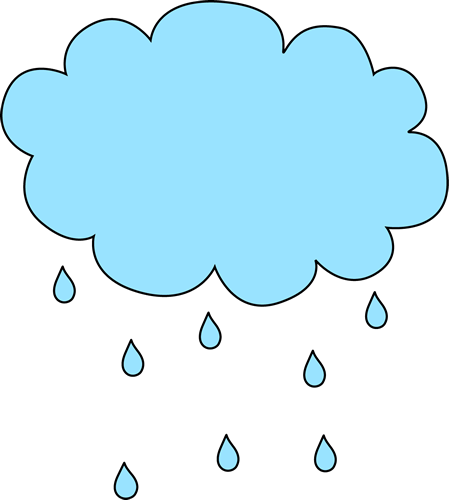 rainy clipart weather word
