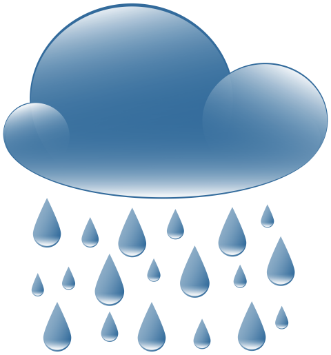 Rain clouds png. Cloud weather icon free