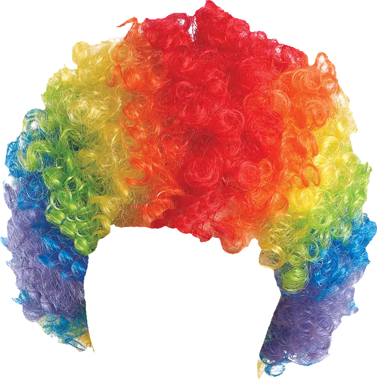 Rainbow afro png. Wigs wig transparent background