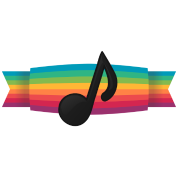 Rainbow banner png. Music note by jasminjuice