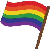 Rainbow banner png. Gift idea lgbt by