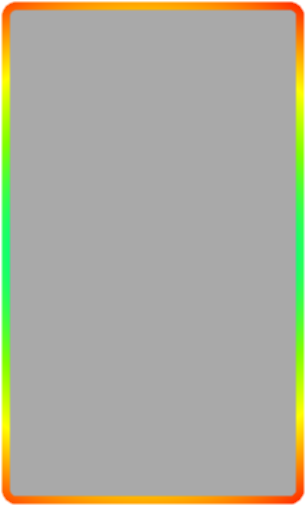 Rainbow border png. Panel rectangle clipart outline