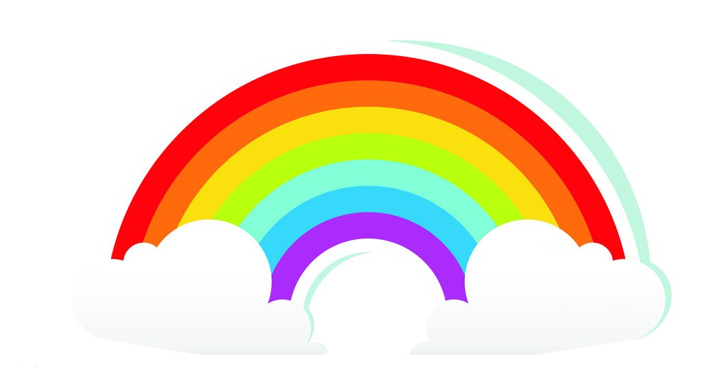 Rainbow cloud png. Cartoon transprent free download