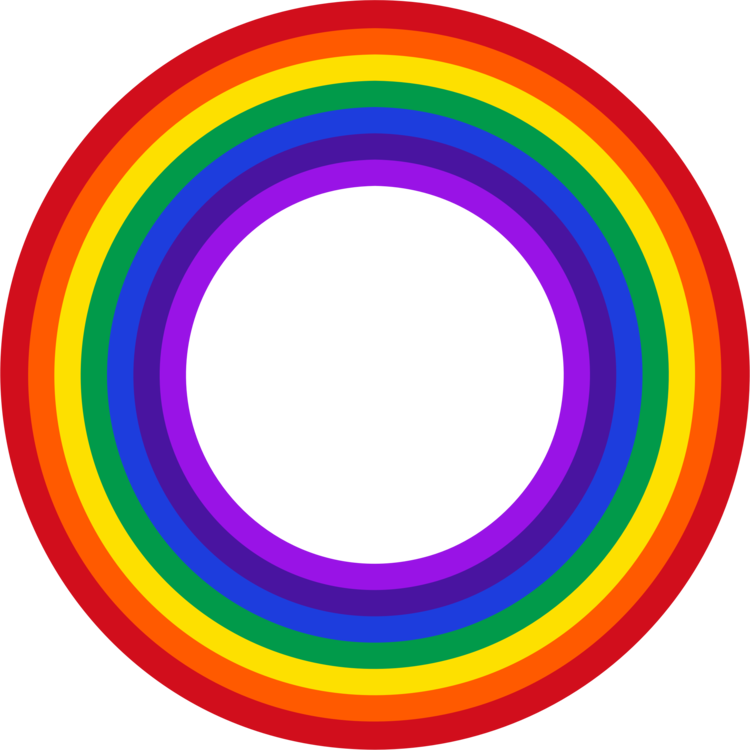 Rainbow circle png. Color red violet free