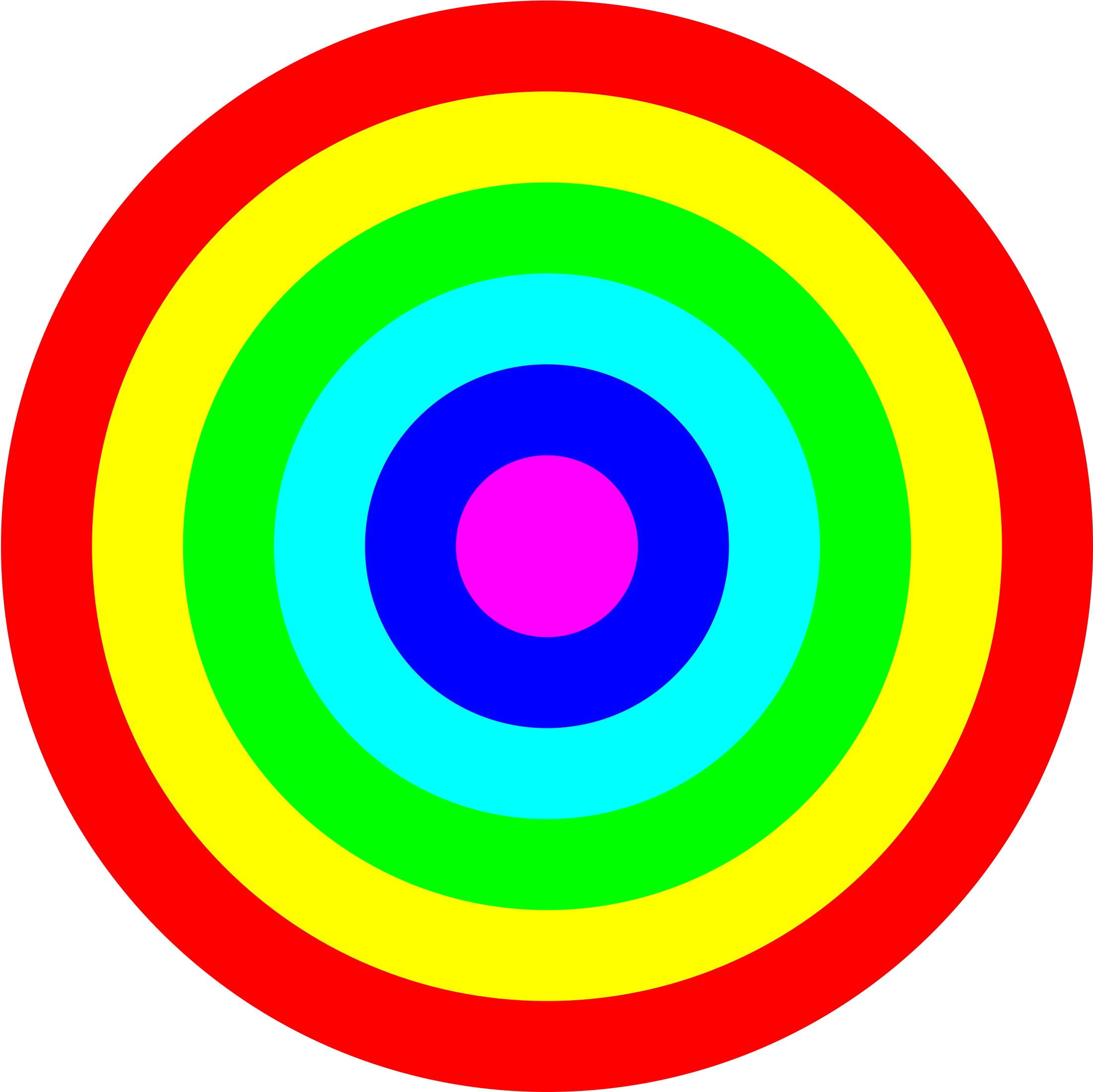 Rainbow circle png. Target color icons free