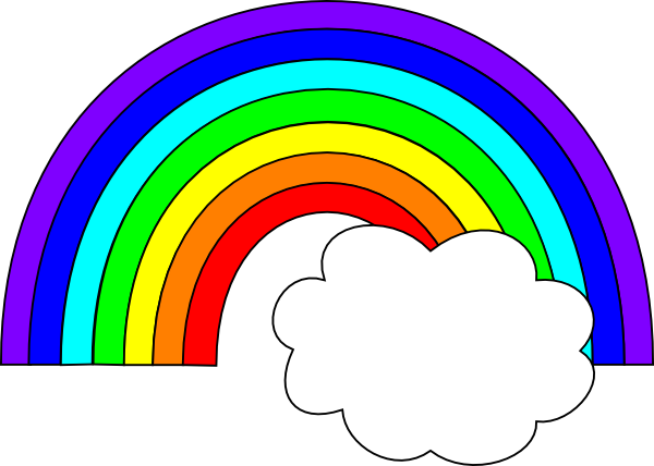 Rainbow clip cloud. With one art at