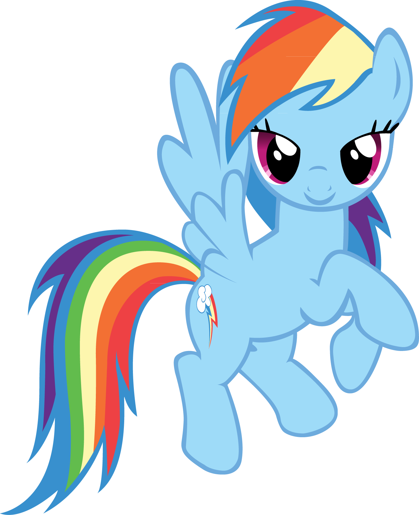 Rainbow clip my little pony. Image fanmade dash flying