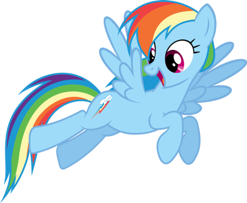 Rainbow clip my little pony. Dash and rainbows is