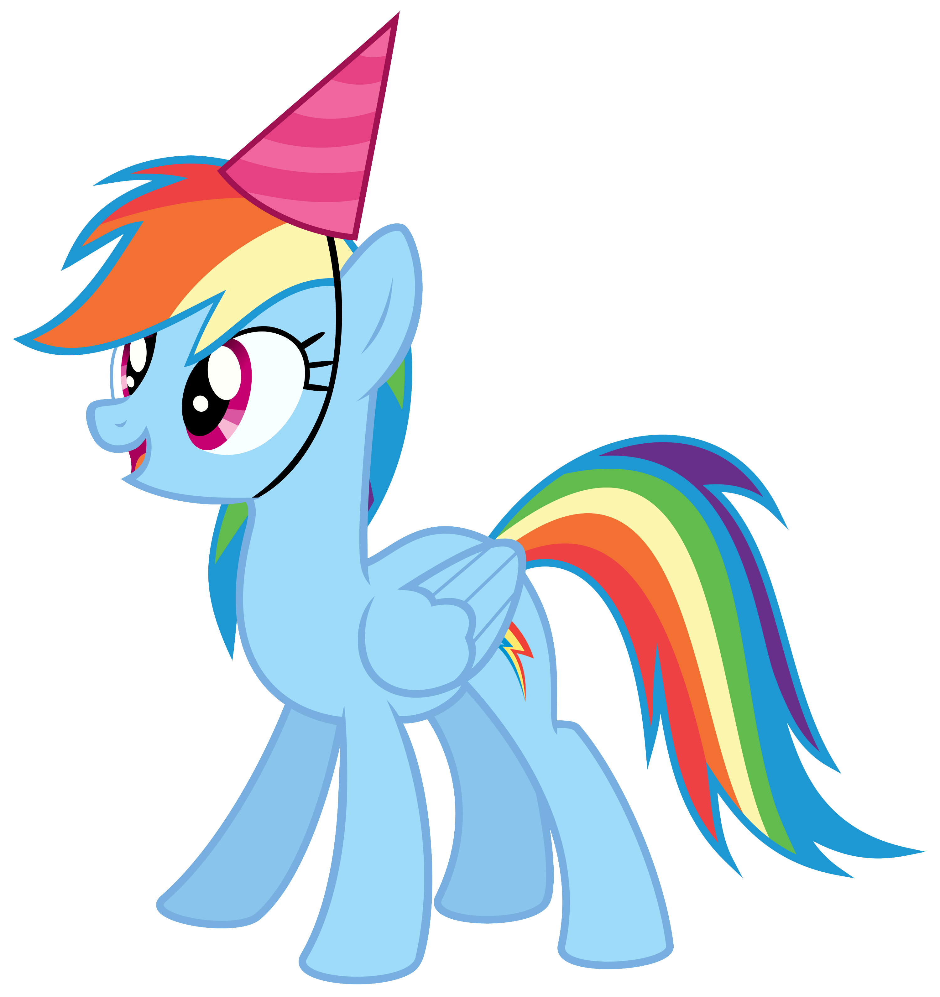 Rainbow clip my little pony. Dash with a party