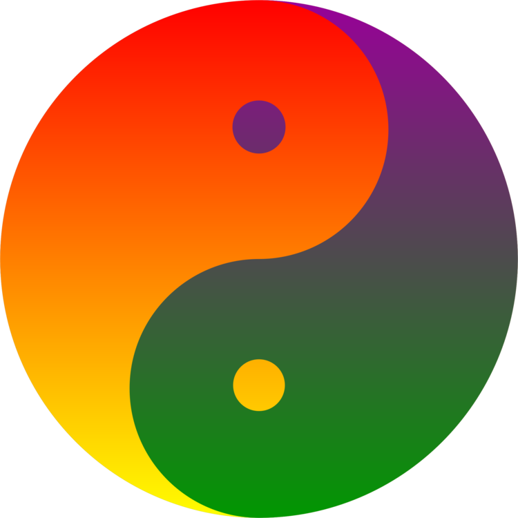 Rainbow clip roygbiv. Complementary colors yin and