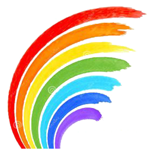 Rainbow clip watercolor. Painting stock photography art