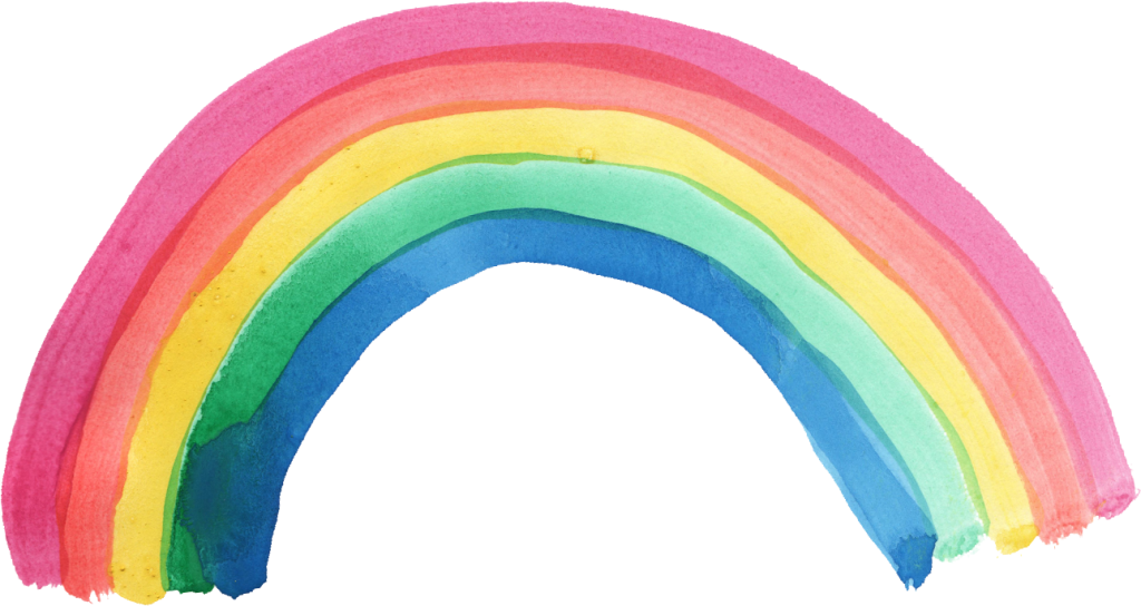 Rainbow clip watercolor. Png transparent onlygfx