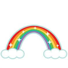 Rainbow clipart. Two sided decoration clip