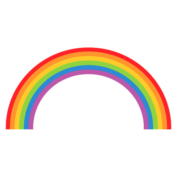 Rainbow clipart. Liked on polyvore featuring