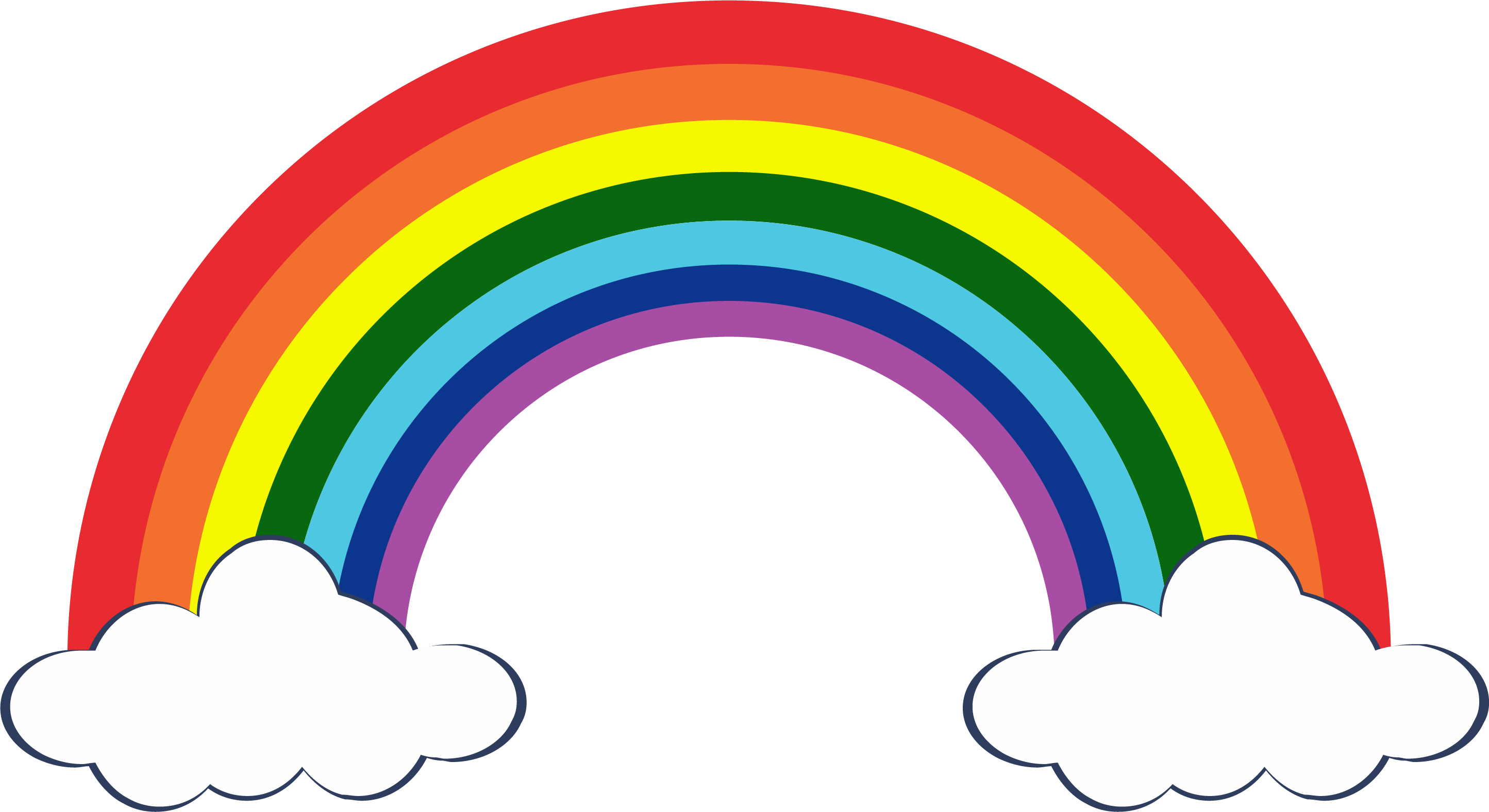 rainbow clipart bow