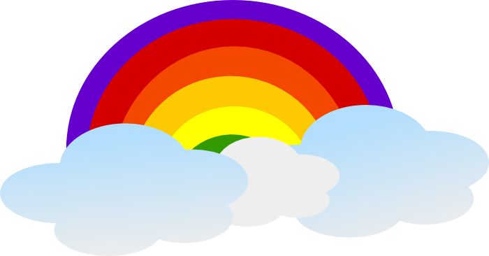 Rainbow clipart animation. Free animated gifs vectors