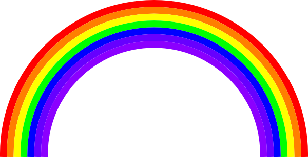 Rainbow clipart animation. Clip art at clker