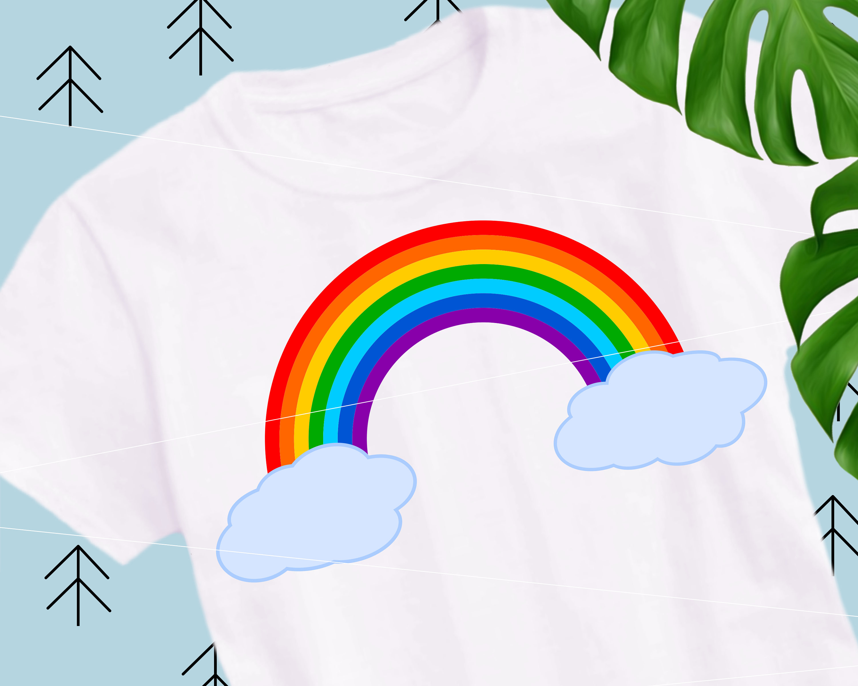 Rainbow clipart baby. Svg cut file