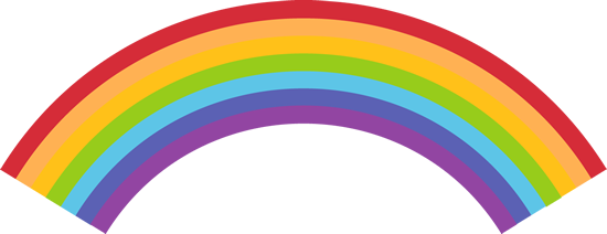Rainbow clipart bow. Clip art images colorful