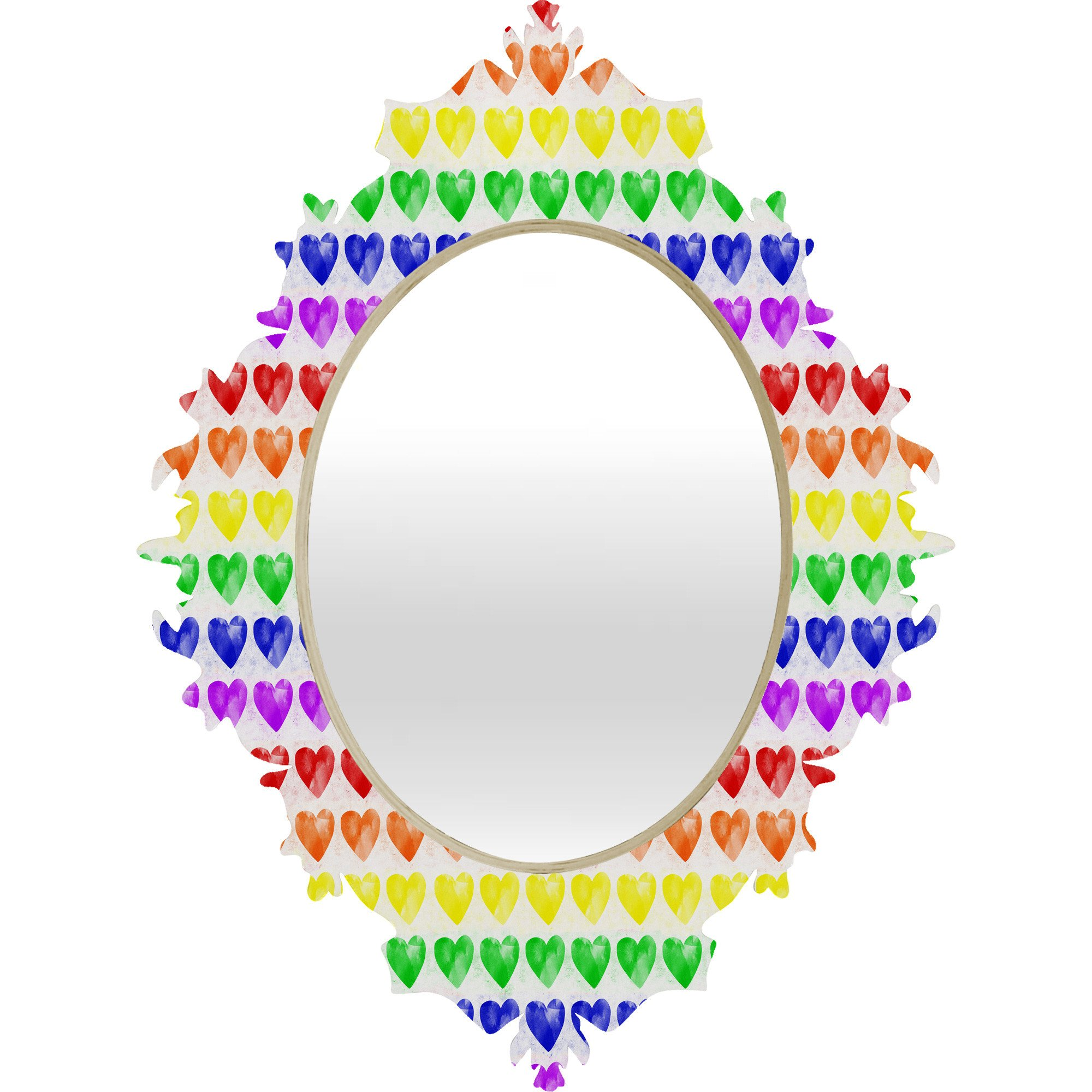 Rainbow clipart explosion. Happiness love baroque mirror