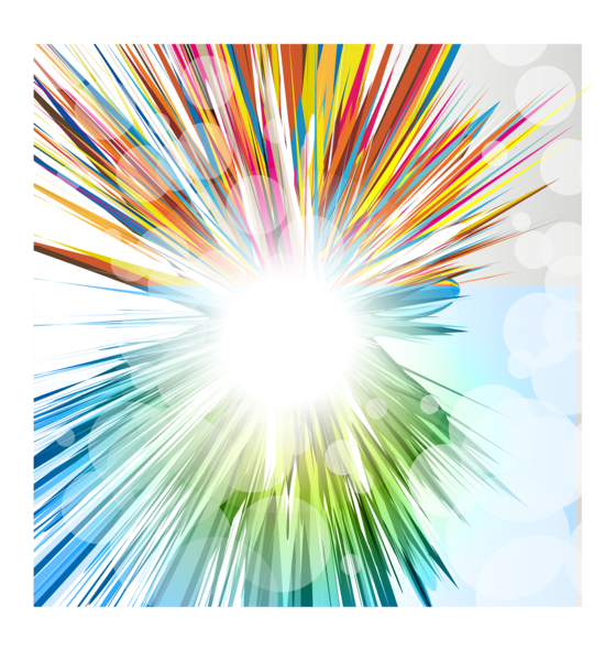 Rainbow clipart explosion. Scene images gallery for