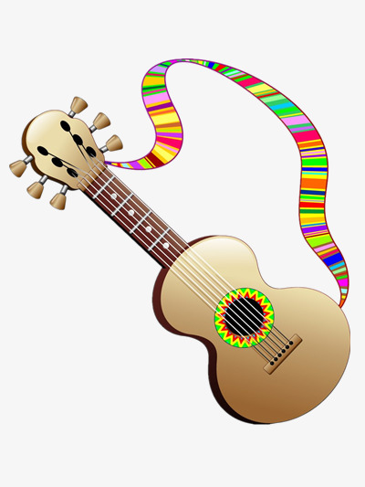 Rainbow clipart guitar. Color music play png